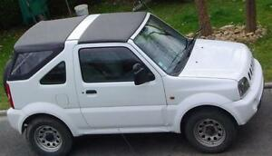 Suzuki Jimny Foldaway Soft Top Hood Black & side frame kit