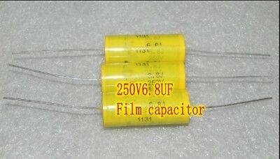 250v6.8uf Crossover Capacitors Metallized Polyester Film Capacitor