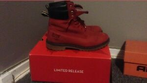 Limited Edition Red Bottom Timberlands  London Ontario image 1