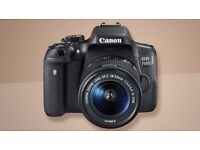 Canon EOS 750D DSLR CAMERA with EF-S 18-55MM F/3.5-5.6 IS Zoom Lens