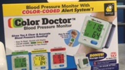 Brand NEW COLOR DOCTOR BLOOD PRESSURE MONITOR, Irregular Heart Beat Alert
