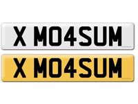 PRIVATE MASUM NUMBER PLATE- X M04SUM- ASIAN NUMBER PLATE- EAST LDN