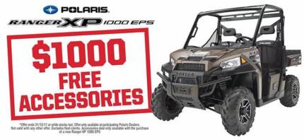 POLARIS RANGER XP1000 EPS AWD - SAVE $1000 PLUS $1000 ACCESSORIES Fulham West Torrens Area Preview