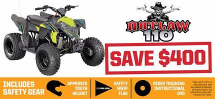 POLARIS OUTLAW 110 EFI YOUTH ATV - SAVE $400 Fulham West Torrens Area Preview
