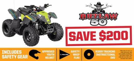 POLARIS OUTLAW 50cc YOUTH QUAD - SAVE $200 Fulham West Torrens Area Preview