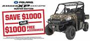 2017 POLARIS RANGER XP 1000 EPS HUNTER EDITION Fulham West Torrens Area Preview