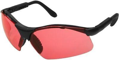 Radians Revelation Safety Glasses With Black Frame And Vermilion Lens