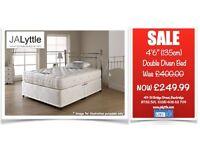 """4'6"""" (135cm) Double Divan Bed Was £400.00 NOW £249.99"""