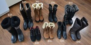 Women's Winter Boots. Different sizes. Different prizes.