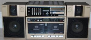 Vintage FISHER Mini Hi-Fi Stereo System Dual Tape Deck Dubbing