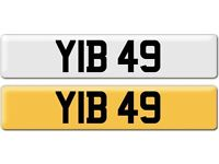 *YIB 49* Dateless Personalised Cherished Number Plate Audi BMW M3 Ford VW Caddy Mercedes Vauxhall