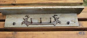 Rustic Barn Board Moose Coat Rack Belleville Belleville Area image 4