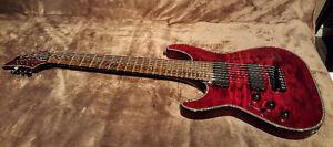 Guitare Schecter hellraiser c-8 left handed