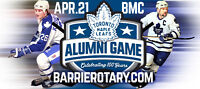 The Toronto Maple Leafs Alumni Game by the Rotary Club of Barrie