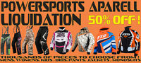 FXR RACING & POWERSPORTS GEAR LIQUIDATION