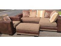 Corner Sofa, Armchair and Footrest