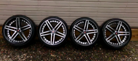 FULL SET AXE EX20 19 x 8.5 FOR BMW WITH FALKEN 225/35/19 TYRES