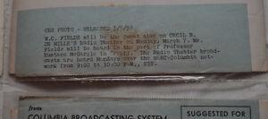 Vintage B&W promo photos of CBS radio stars 1930's Kitchener / Waterloo Kitchener Area image 9