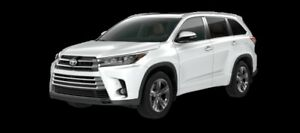 2017 Toyota Highlander Limited  - $382.62 B/W