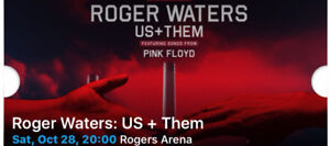 Two tickets - Roger Water + Us Them