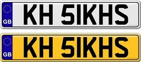 KHALSA KHALISTAN SIKH'S - A VERY RARE AND SPECIAL ONE OF A KIND PRIVATE NUMBER PLATE FOR SALE