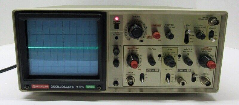 Hitachi V-212 20MHz 2-Channel Oscilloscope