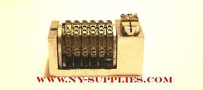 316 Letterpress Numbering Machine 6 Digits W. Drop Zero For Heidelberg Kluge