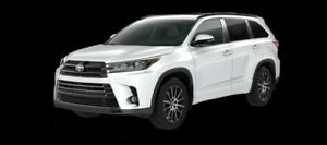2017 Toyota Highlander XLE AWD SE Package  - $350.29 B/W