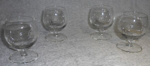 Air Canada mini-wine glasses used on planes in 1970s - set of 4