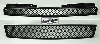 Chevy Tahoe Suburban Avalanche 07-14 Front Mesh Black Hood Bumper Grill