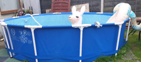 Aldi 12ft framed pool, chemicals and accessories, used once
