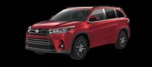 2017 Toyota Highlander XLE AWD SE Package  - $348.42 B/W