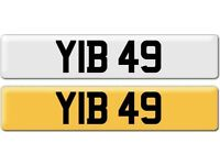 YIB 49 Dateless Personalised Cherished Number Plate Audi BMW M3 Ford Golf Mercedes Kia Vauxhall
