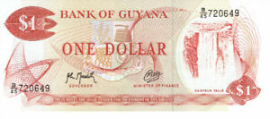 Billet hors circulation de ONE  DOLLAR  de  GUYANA.