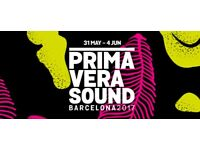2 x Primavera Sound 2017 Barcelona (Full Festival Passes) - £350 for both