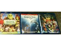 BLU-RAYS - Dolphin Tale - Toy Story 3 - Shrek Forever After - £10 For All 3 Or £4 Each