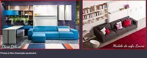 LIT escamotable, ensemble Mural, de STYLE, matelas et sofas PRIX de l'Usine.FAUT VOIR!
