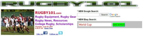 RUGBY101.COM  Great  RUGBY Domain name and monetized website!  MUCH TRAFFIC!