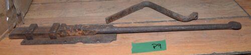 Antique huge blacksmith forged dead bolt latch barn castle collectible primitive