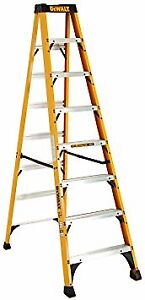 DeWalt Fiberglass Step Ladder Type IA, 300-Pound, 8-Foot