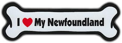 Dog Bone Magnet: I Love My Newfoundland | For Cars, Refrigerators, More