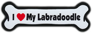 Dog Bone Magnet: I Love My Labradoodle | For Cars, Refrigerators, More
