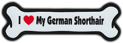 Dog Bone Magnet: I LOVE MY GERMAN SHORTHAIR | Dogs Doggy | Short Hair Pointer