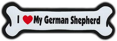 Dog Bone Magnet  I Love My German Shepherd   Dogs Doggy Puppy   Car Automobile