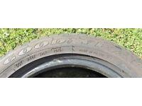 185/55 x 15 Goodyear Tyre. 6.5mm Tread Remaining.