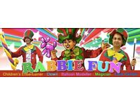 Childrens MAGICIAN CLOWN Kids Entertainer Childs face painter Balloon Modeler birthday party hire