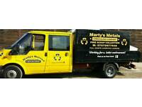 MARTY'S METALS FREE SCRAP COLLECTION IN PORTSMOUTH AND SURROUNDING AREAS