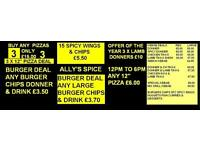 Business for Sale - Takeaway - Fast food - burgers - kebabs - pizza - curry - dessert