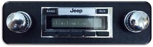 1978-1986 Jeep CJ NEW AM/FM 200 watt Stereo Radio , CJ-5, 7, 8 No Cutting dash