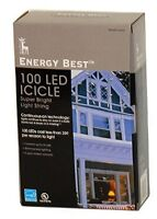 New 5 boxes Energy Best 100 LED Icicle Super Bright Light String